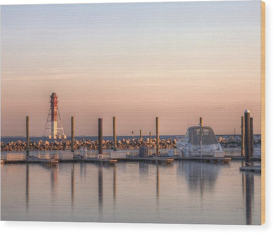 Craighill Channel Rear Lower Range Lighthouse Wood Print by JC Findley