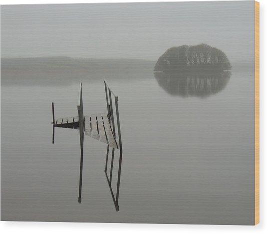 Crannog At Lake Knockalough Wood Print