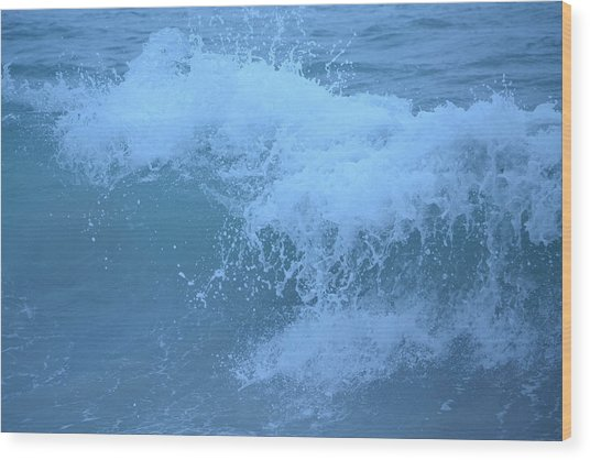 Crashing Wave Wood Print by Kiros Berhane