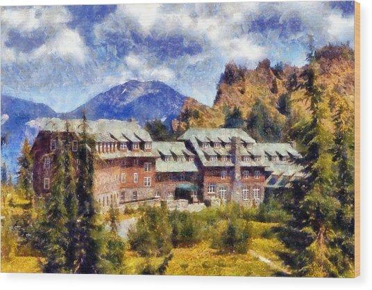 Crater Lake Lodge Wood Print