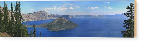 Crater Lake Wood Print by Melisa Meyers