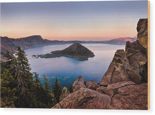 Crater Lake National Park Wood Print