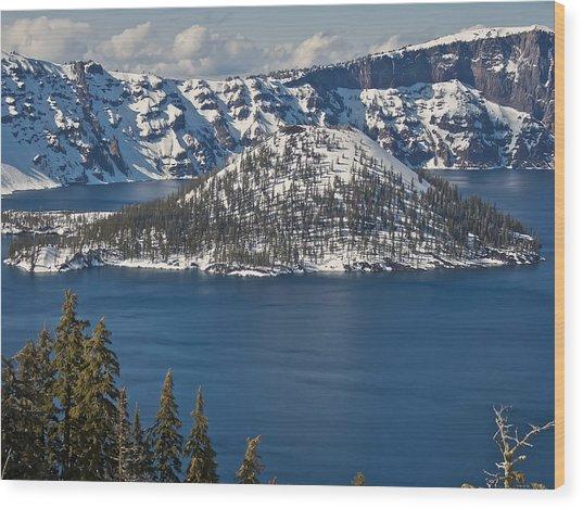 Crater Lake Oregon Wood Print by Steven Lapkin