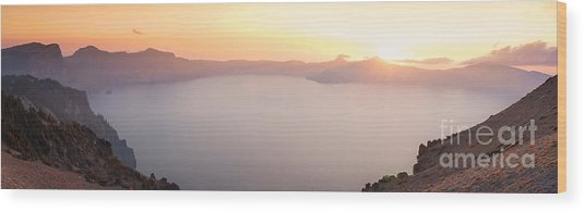 Crater Lake Panorama Wood Print