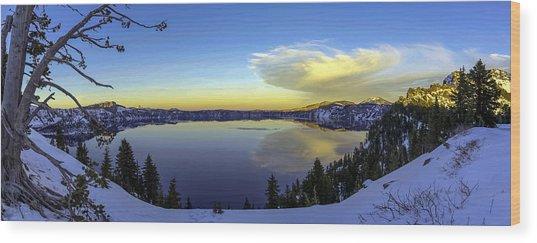Crater Lake Panorama Wood Print