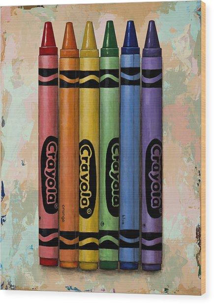 Crayola Wood Print
