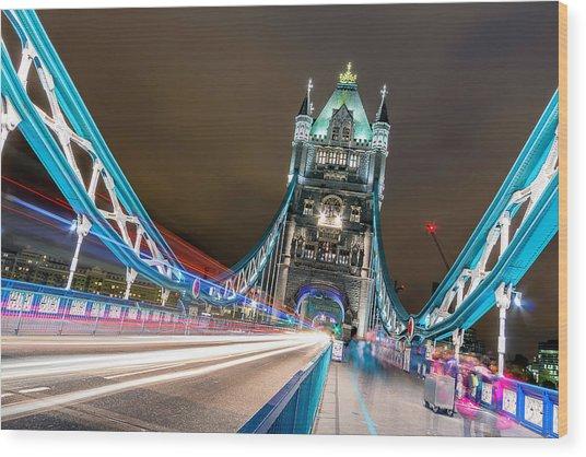 Crazy London Wood Print