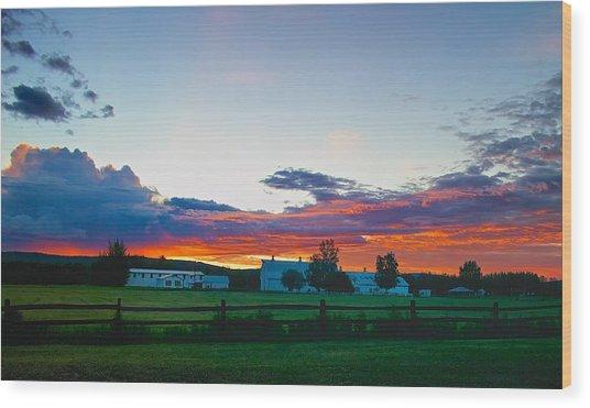 Creamer's Diary Sunrise Fairbanks Alaska Wood Print