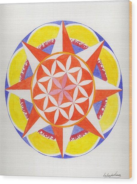 Creativity Mandala Wood Print by Silvia Justo Fernandez