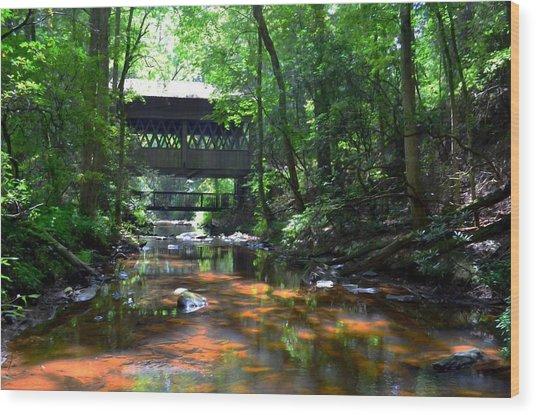 Creek Bridge Wood Print by Bob Jackson