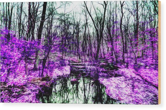 Creek By Purple Wood Print