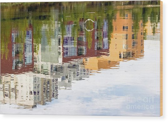 Creekside Reflections Wood Print