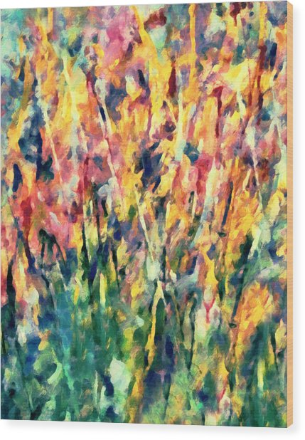 Crescendo Of Spring Abstract Wood Print