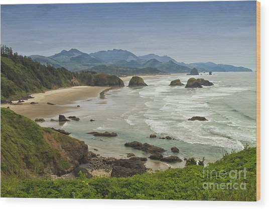 Crescent Beach Oregon Wood Print