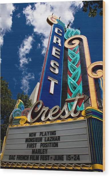 Crest Theater Wood Print