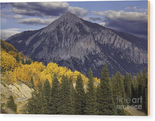 Crested Butte Wood Print