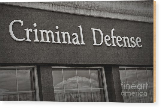 Criminal Defense Law Practice Wood Print