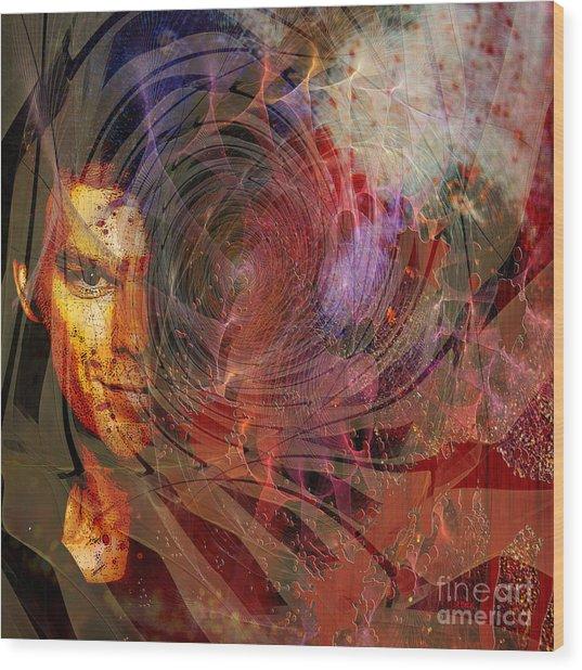 Crimson Requiem - Square Version Wood Print