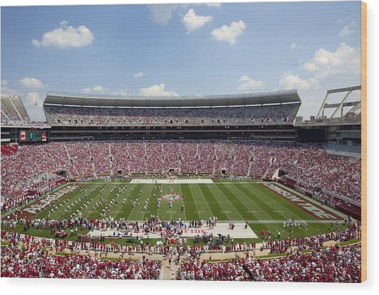 Crimson Tide A-day Football Game At University Of Alabama  Wood Print