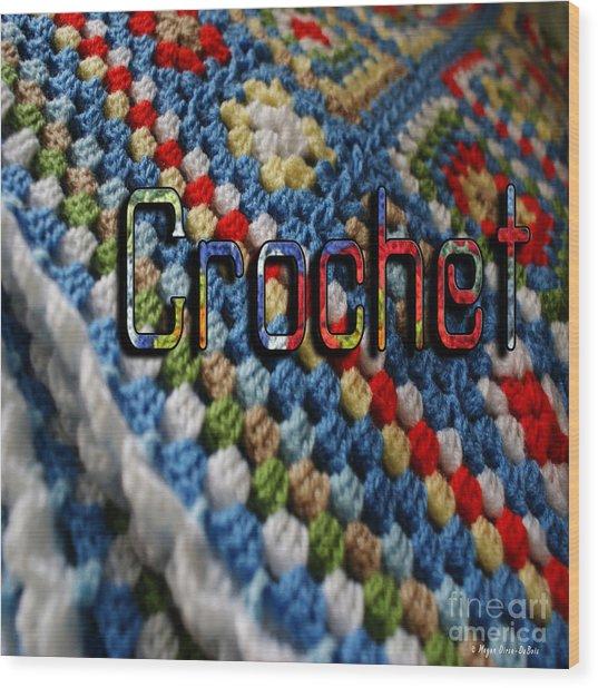 Crochet Wood Print