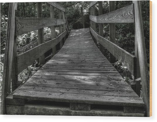 Crooked Bridge Wood Print