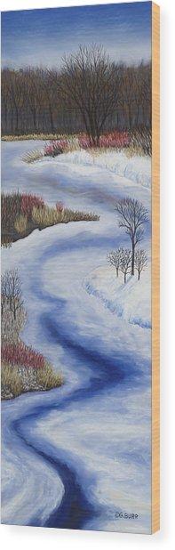 Crooked Creek Wood Print