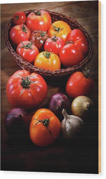 Crop Tomatoes Wood Print