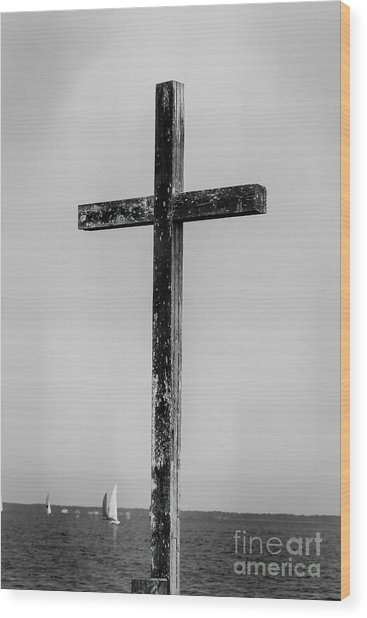 Cross At The Neuse Wood Print