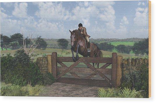 Cross Country Wood Print