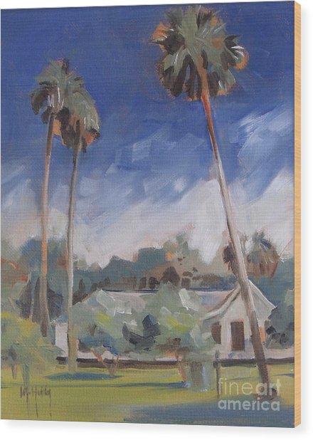 Cross Creek Palms  Wood Print