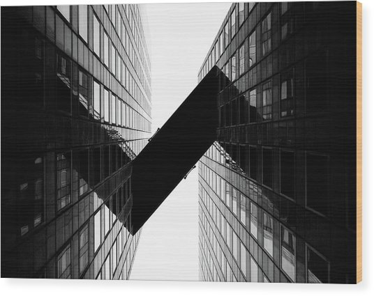 Crossing | La Defense Wood Print by © Giulio R.c.