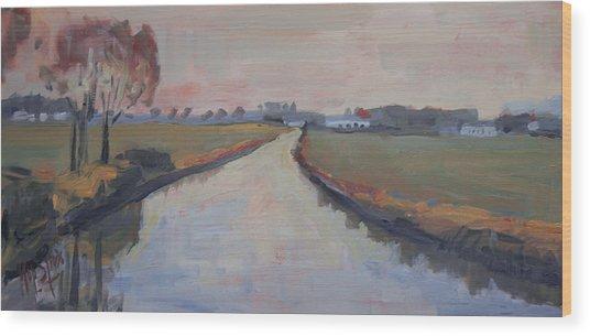 Crossing Hoofdwetering Vamerenweg Wood Print