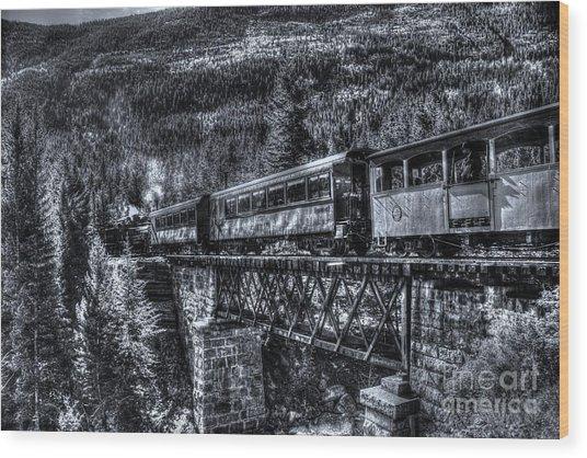 Crossing The Tressel Wood Print