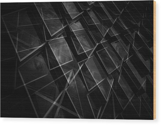 Crossing Windows Wood Print by Jeroen Van De