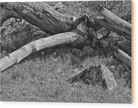 Crossroad Wood Print