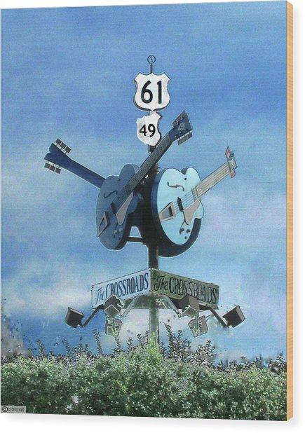 Crossroads In Clarksdale Wood Print