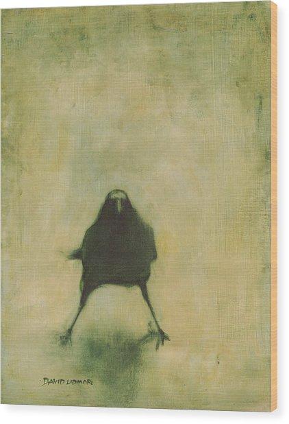 Crow 6 Wood Print
