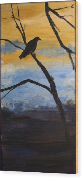 Crow IIi Wood Print