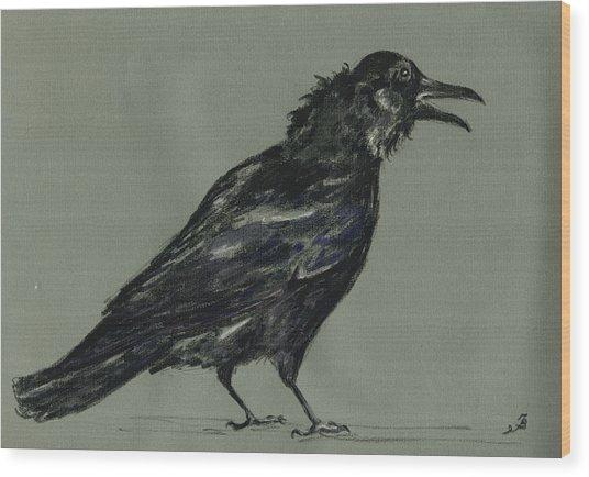 Crow Wood Print by Juan  Bosco