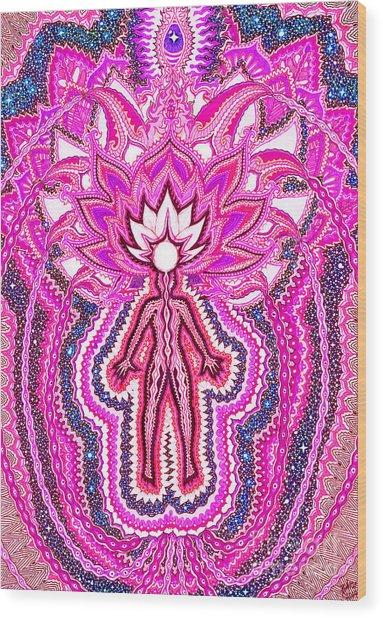 Crown Chakra Sahasrara Wood Print