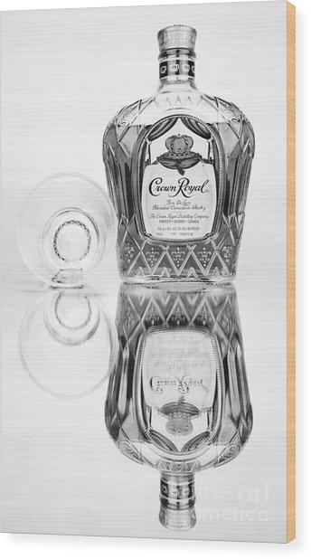 Crown Royal Black And White Wood Print