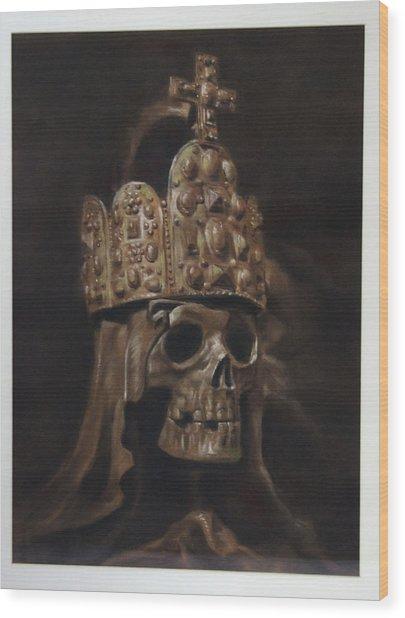 Crowned Death Wood Print