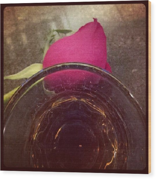 #crownroyal #rose #tgif Wood Print