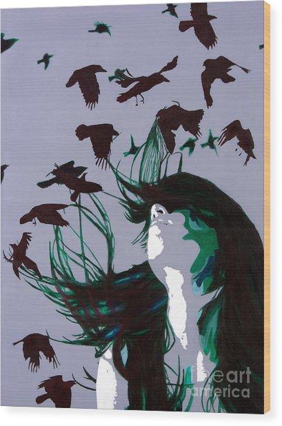Crows Wood Print