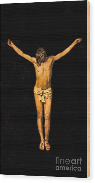 Crucifixion Of Jesus Christ Wood Print by Lee Dos Santos