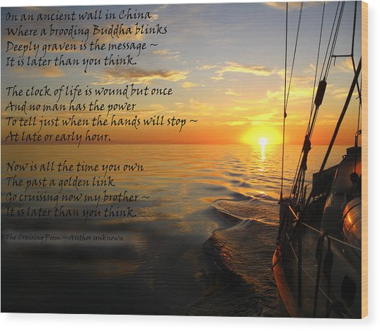 Cruising Poem Wood Print