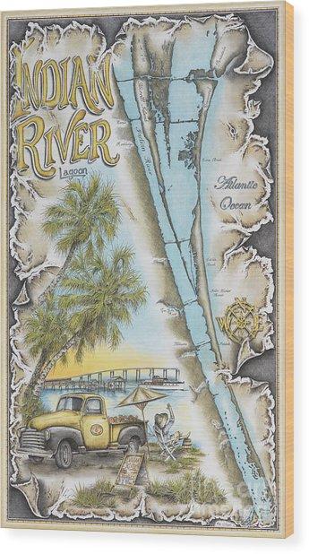 Cruising The Indian River Wood Print