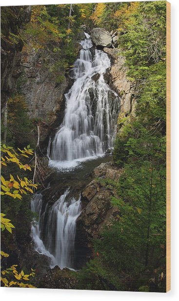 Crystal Cascade Wood Print