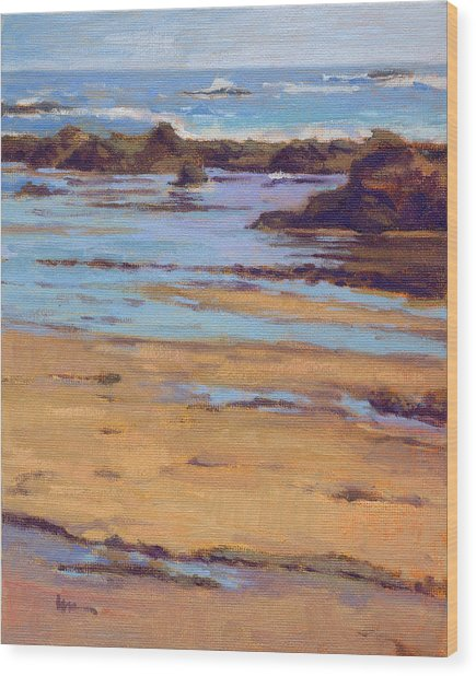 Wood Print featuring the painting Crystal Cove by Konnie Kim