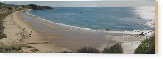 Crystal Cove View - 01 Wood Print